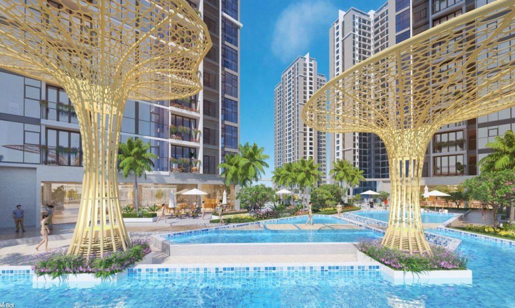 6 hồ bơi tràn bờ tại 6 tòa tháp