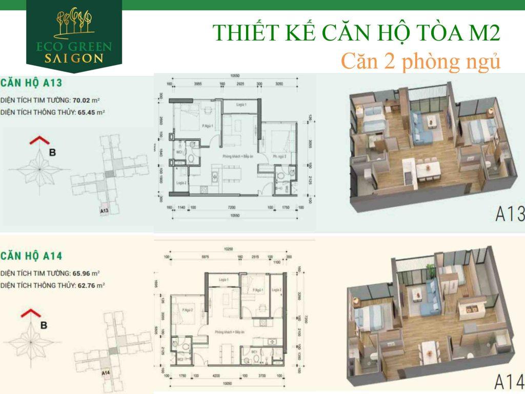 căn a13 a14 tòa M2 Eco Green Sài Gòn