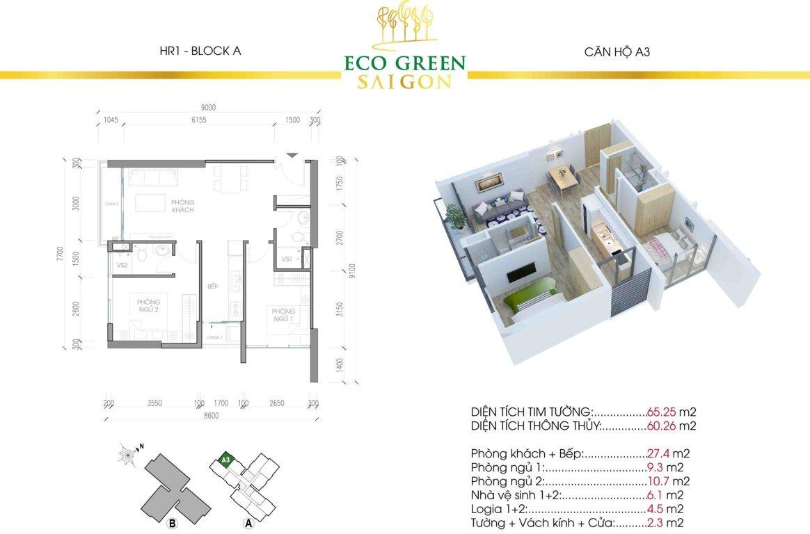 can a3 hr1 eco green sai gon