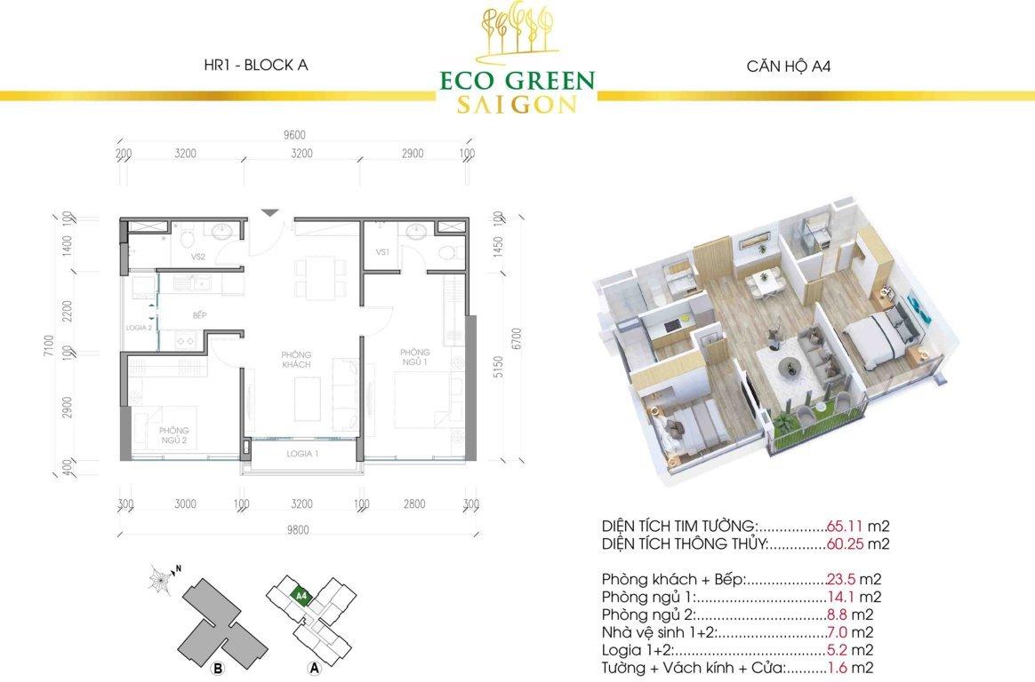 can a4 hr1 eco green sai gon