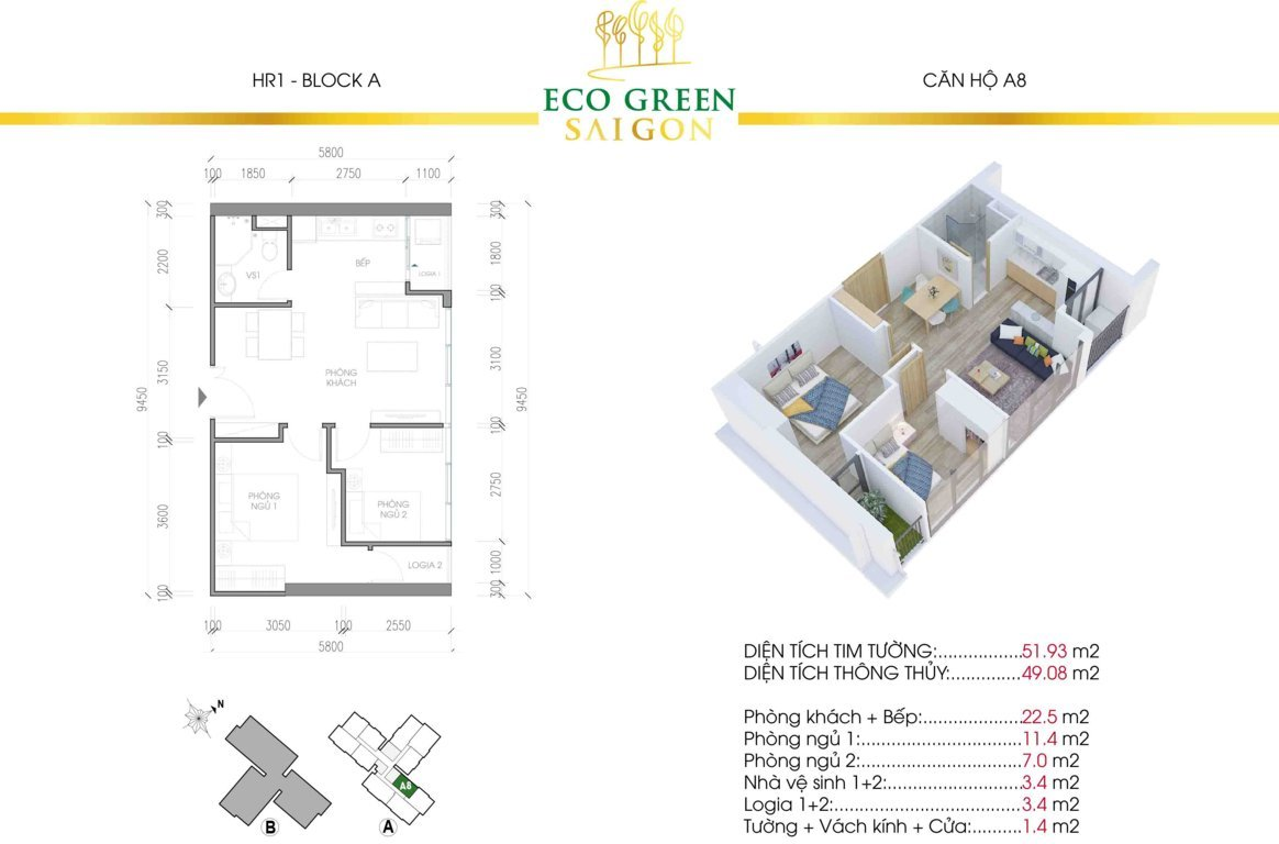 can a8 hr1 eco green sai gon