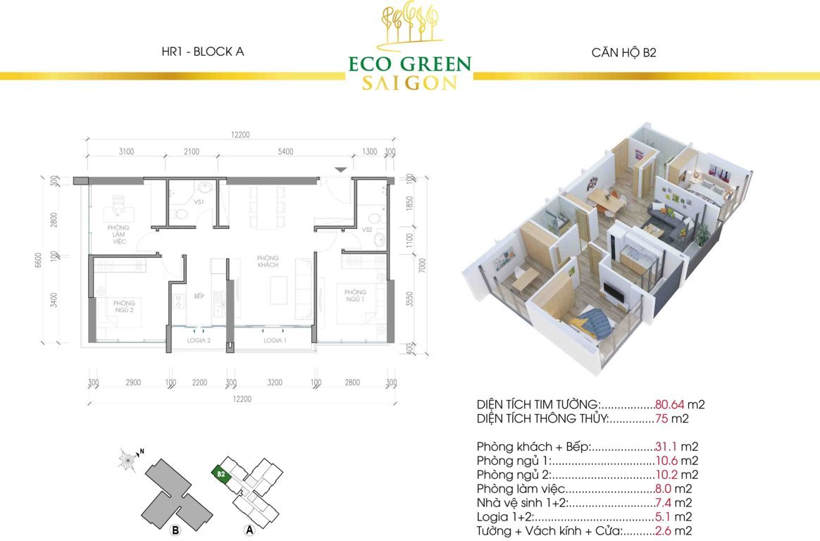 can b2 hr1 eco green sai gon