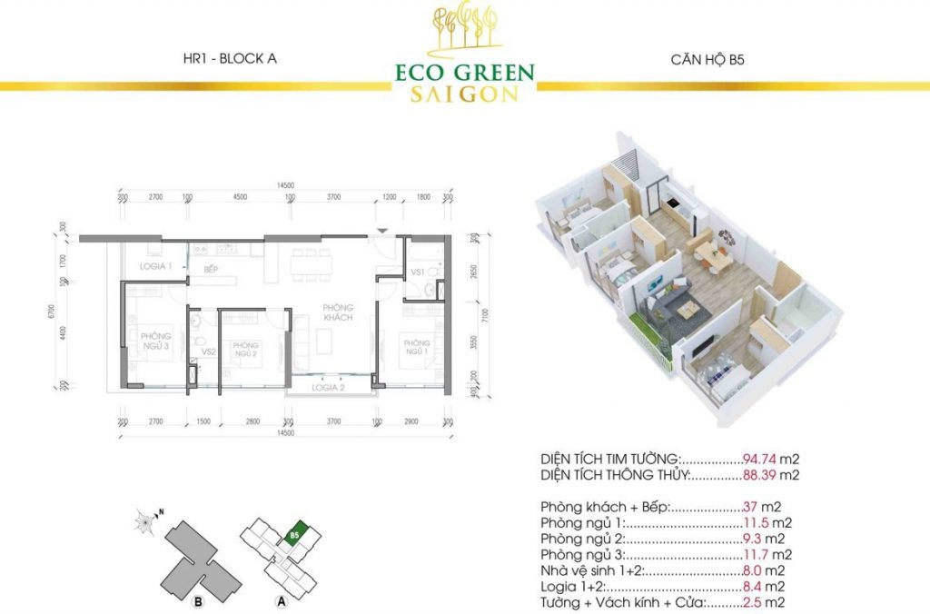 can b5 hr1 eco green sai gon