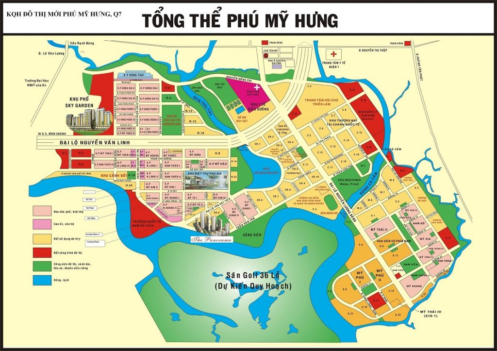 Ban do tong the Phu My Hung
