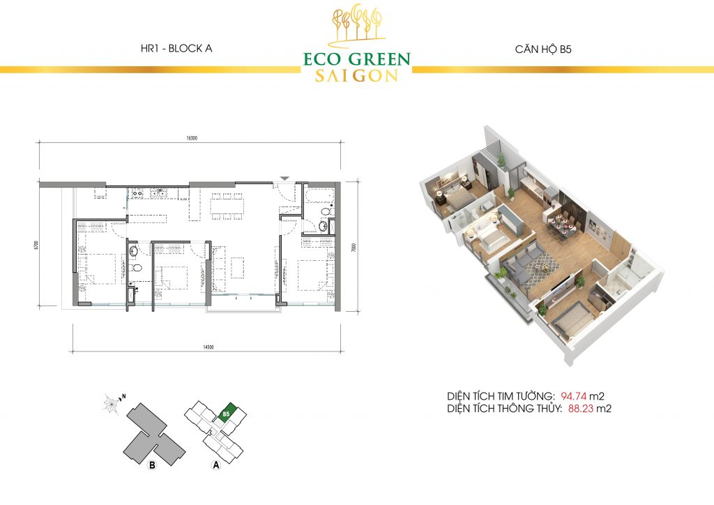 layout can ho 3 phong ngu b5 eco green sai gon