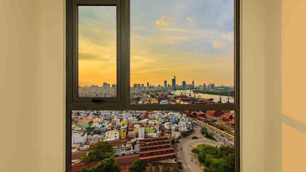 View từ phòng ngủ Tòa Hr1