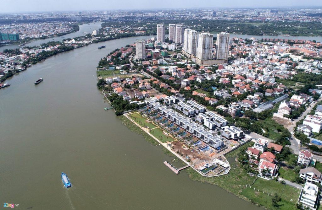 Khu đô thị xanh thảo điền tphcm 3 mặt giáp sông