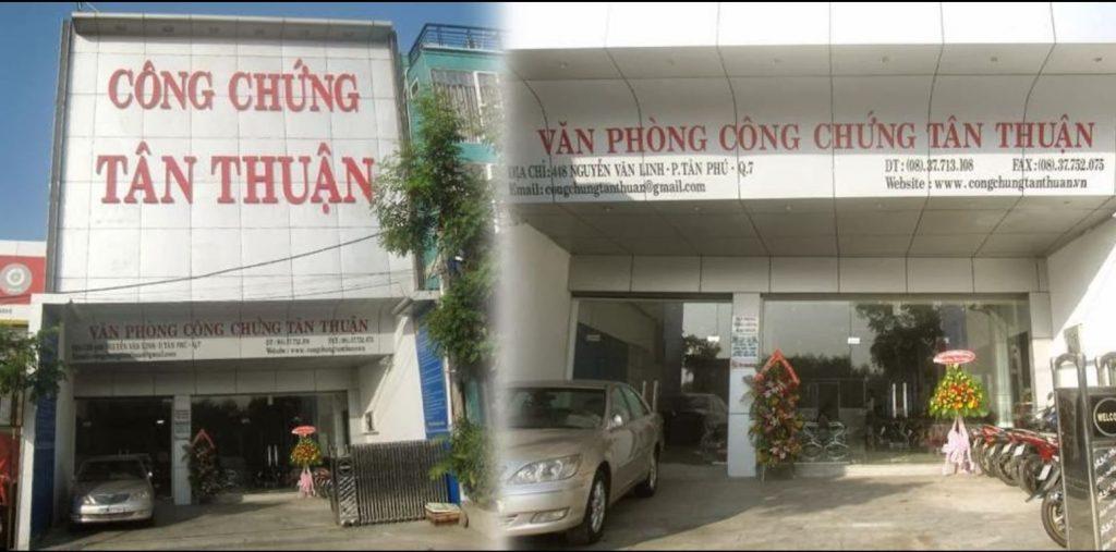 Văn phòng công chứng Tân Thuận quận 7