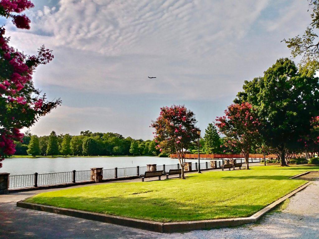 Công viên hương tràm quận 7 có hồ trong lòng dự án