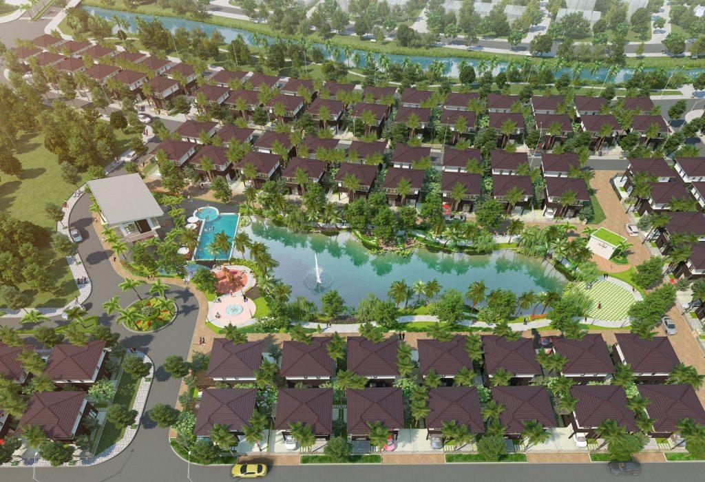 phoi canh tong the khu biet thu camellia garden binh chanh