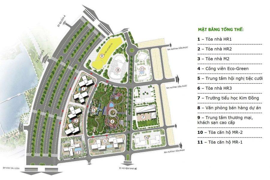 Mặt bằng tổng thể dự án Eco Green Sài Gòn