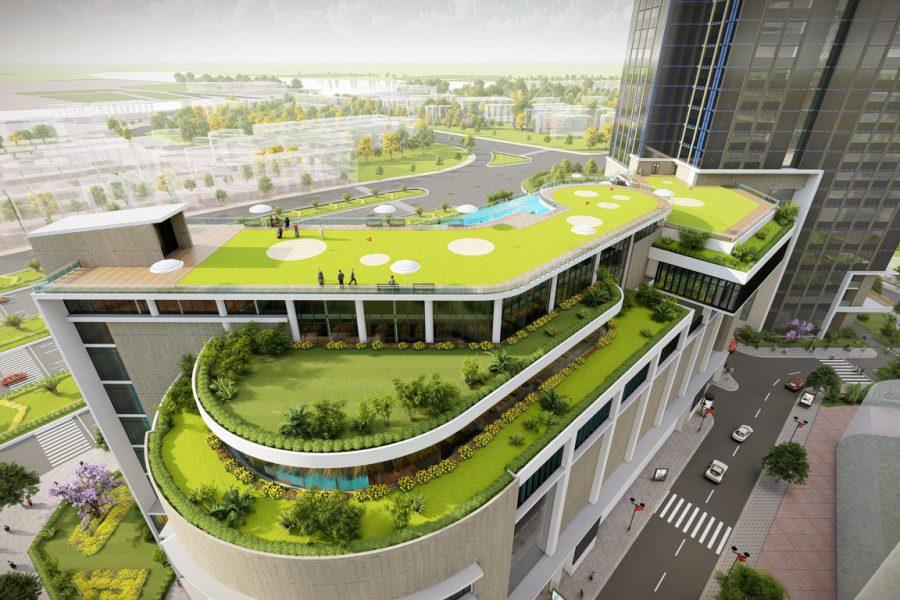 Trung tâm thương mại 6 tầng tại eco green sài gòn